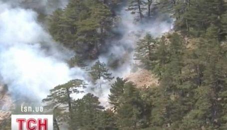 На южном побережье Крыма - пожар