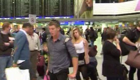 Аэропорт Франкфурта-на-Майне работает с серъезными перебоями