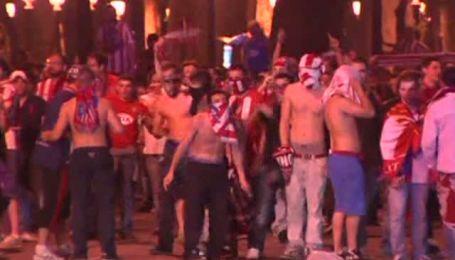 В Мадриде сотни футбольных фанатов устроили беспорядки