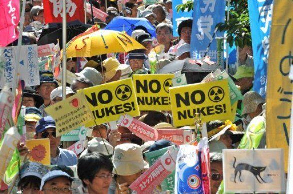 Демонстрація проти АЕС в Японії