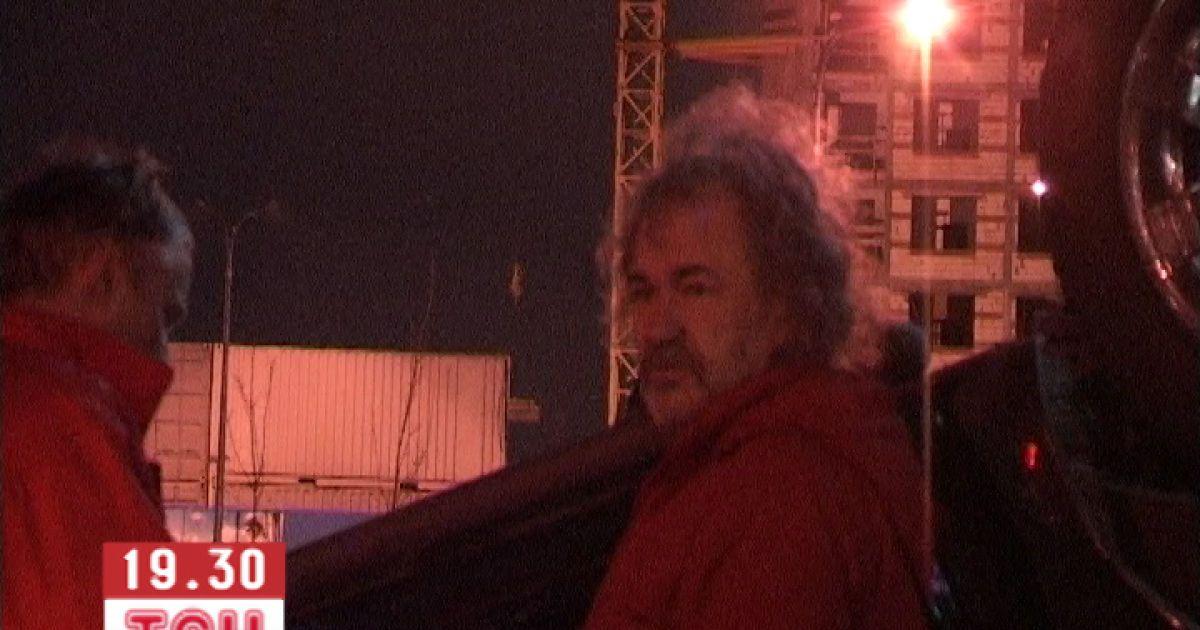 Петриненко в результаті аварії дивом не постраждав