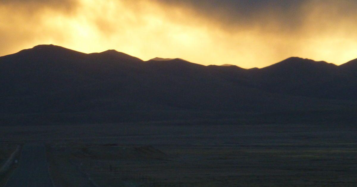 Закат возле г. Сага