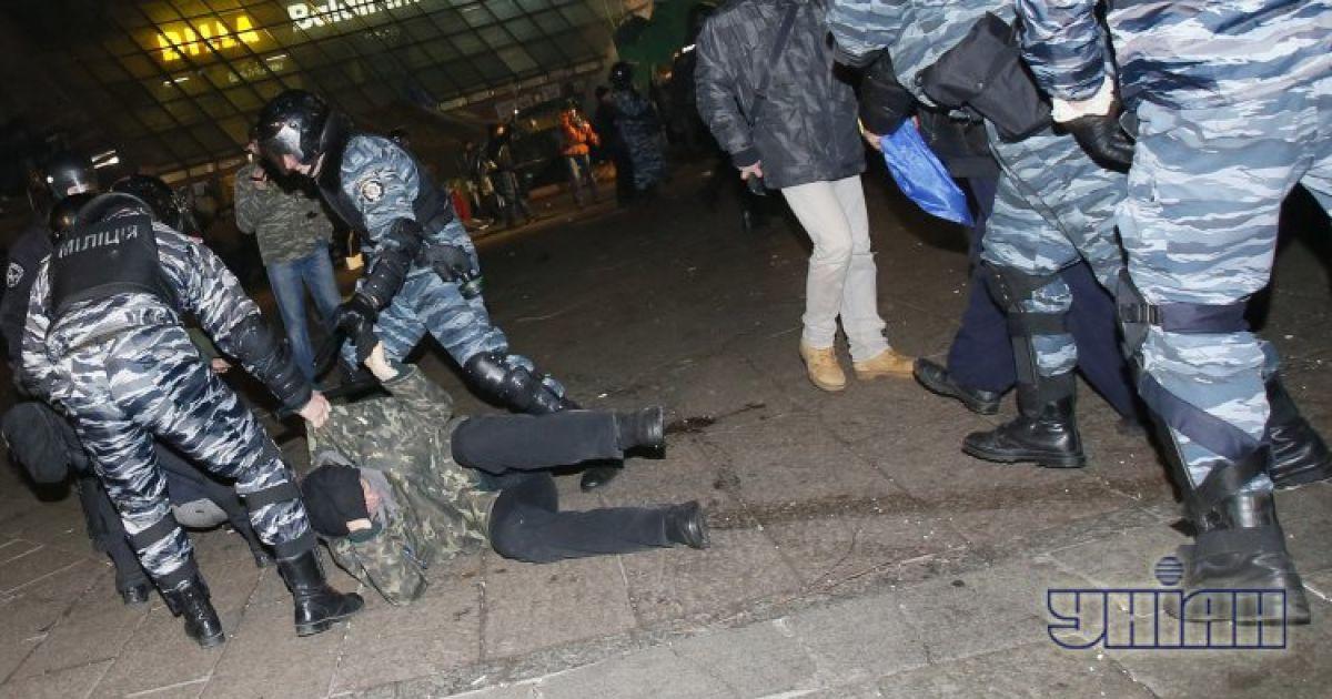 """Беркут"" грубо разогнал ночью Евромайдан @ УНІАН"