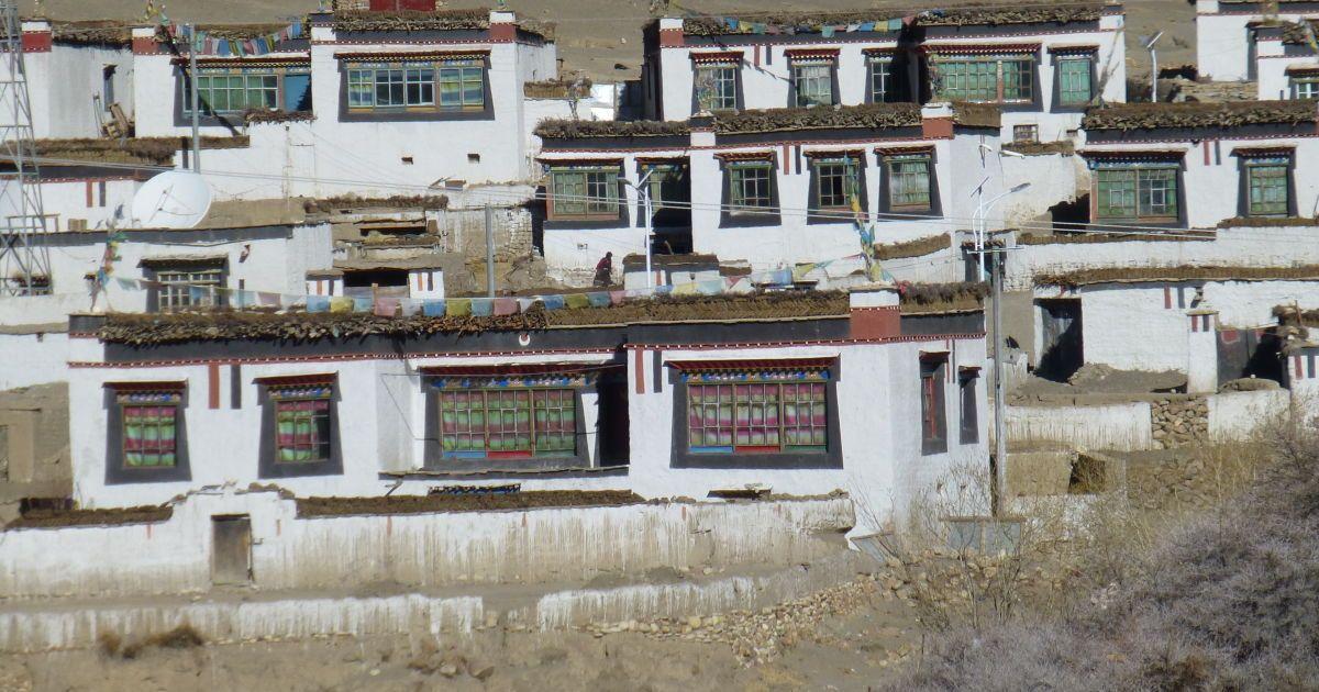 Типичная тибетская деревня