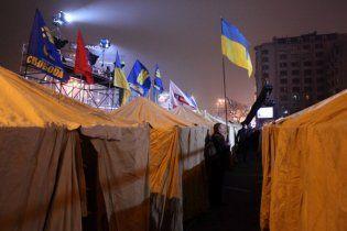 Участники Евромайдана установят на Банковой новогодние палатки и будут пикетировать АП