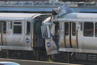 У метро Чикаго зіткнулися два потяги