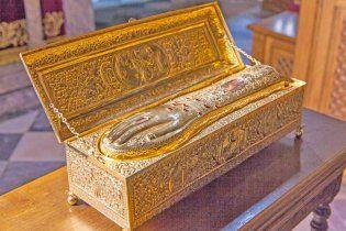 На Донеччину привезли руку святого Георгія Побідоносця