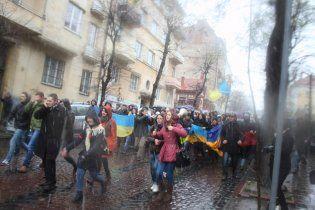 Українські студенти хочуть з'єднати Київ і Євросоюз живим ланцюгом