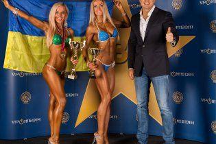 Сексуальні бодібілдерки Самсоненка здобули дві золоті медалі на міжнародному турнірі