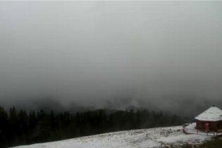 У Карпатах випав перший у цьому році сніг