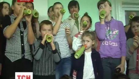 Винницу посетил овощной оркестр