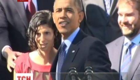 Обама перервав промову аби допомогти вагітній жінці