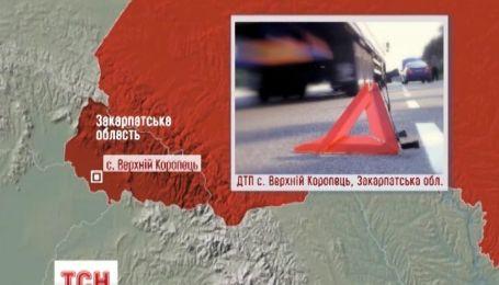 На Закарпатті мікроавтобус на смерть збив пішохода і перекинувся