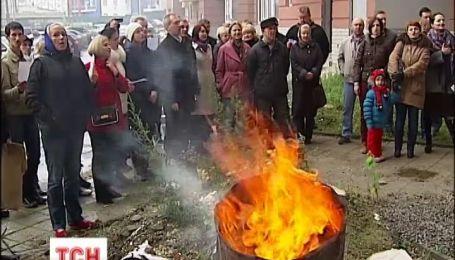 Более сотни семей жилого комплекса под Киевом еще и до сих пор не включили отопление