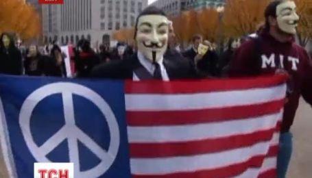 """""""Марш миллионов масок"""" в мире прошли демонстрации активистов хакерской движения """"Анонимус"""""""