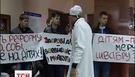Ирпенцы митингами отстаивают свое право на больницу