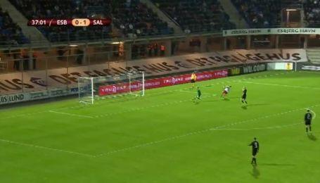 Есб'єрг - Зальцбург - 0:2. Відео другого голу Алана