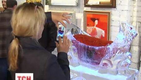В Україні створили рекордну арт-композицію з ікри та льоду