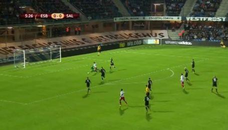 Есб'єрг - Зальцбург - 0:1. Відео голу Алана