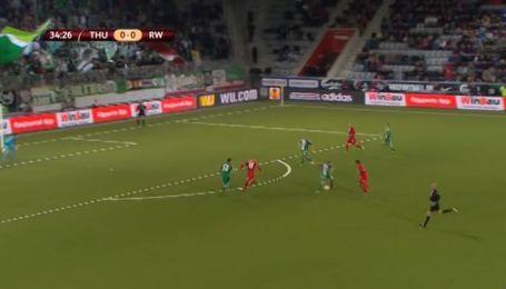 Тун - Рапид - 1:0. Видео гола Шнойвли