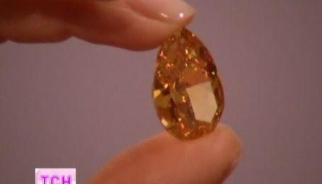 Рідкісний помаранчевий діамант вагою майже 15 каратів виставили на аукціоні