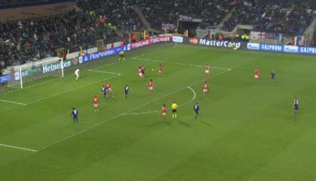 Андерлехт - Бенфика - 2:2. Видео гола Массимо Бруно
