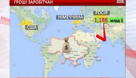 Найбільше грошей українські заробітчани переказують з Росії, США та Німеччини