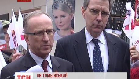 Иностранные послы отказались комментировать разговор с Тимошенко