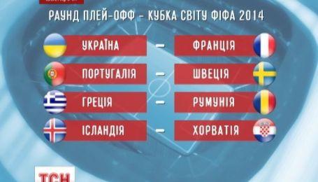 Збірна України з футболу зіграє у плей-офф із Францією