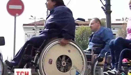 Черновицкие чиновники проигнорировали акцию людей с ограниченными возможностями