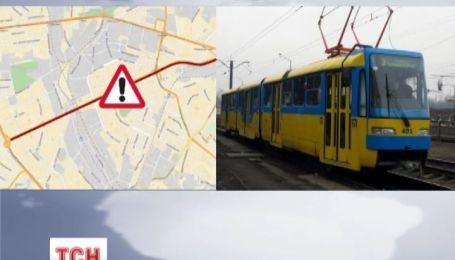 В Киеве остановился скоростной трамвай, часть города отрезана от центра