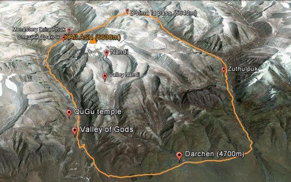 Кора - маршрут - карта