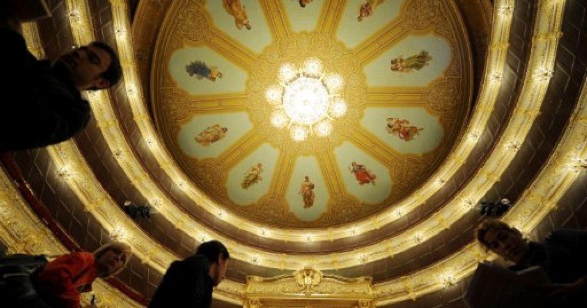 """В Москві після кількох років реставраційних робіт готуються до відкриття """"Большого театру"""". @ AFP"""