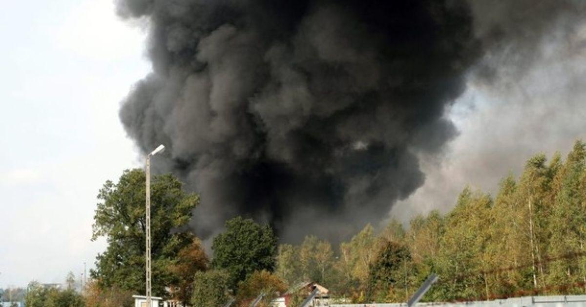 Пожежа на складі з дезодорантами @ naszemiasto.pl