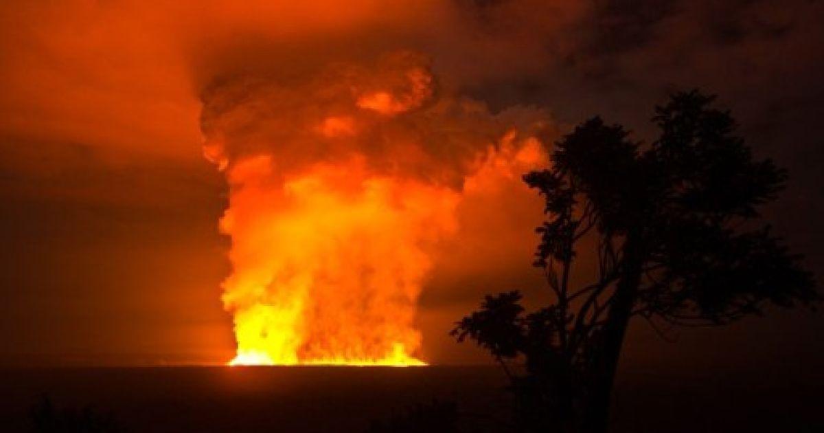 Демократична Республіка Конго, Гома. Виверження вулкану Вірунга почалось у національному парку Вірунга в Конго. Вулкан вивергається в середньому кожні два роки. Фото AFP/Національний парк Вірунга @ AFP