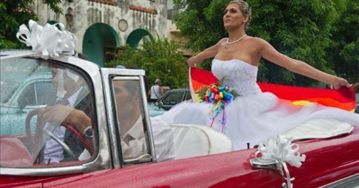 Транссексуалы фото свадьба
