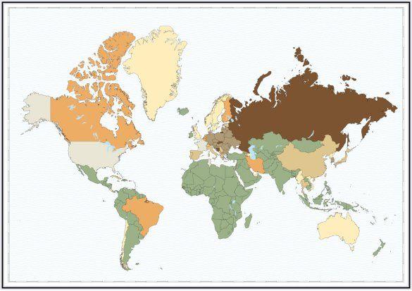 Карта вимирання людства