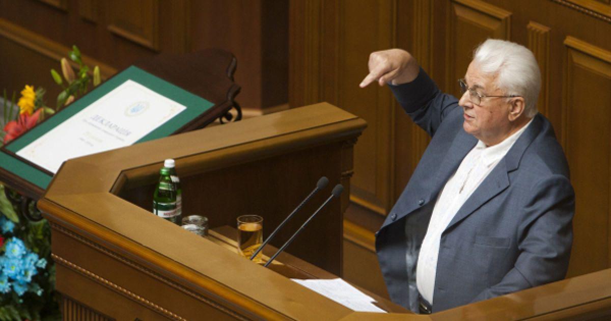Выступление экс-президента Украины Леонида Кравчука @ Украинское фото