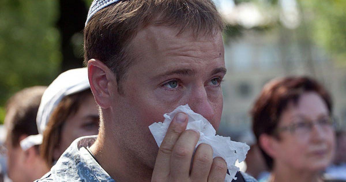 Біттнер підкреслив, що всі учасники маршу - жителі німецького міста Тюбінген, в університеті якого свого часу навчалися 300 організаторів Голокосту у світі й троє головних організаторів розстрілів євреїв в Україні. @ Украинское Фото
