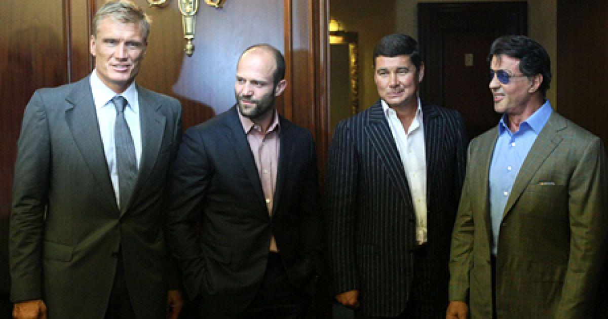 Сільвестр Сталлоне, Дольф Лундгрен та Джейсон Стетхем @ ІМК
