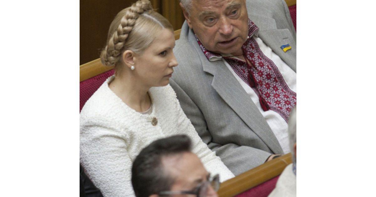 Юлия Тимошенко на торжественном заседании ВРУ по случаю годовщины государственного суверенитета. @ Украинское фото