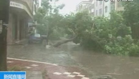 "Китай страдает от тайфуна ""Чантху"""