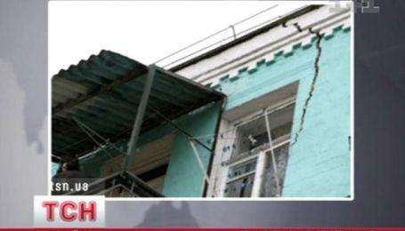 Аварийный дом в центре Киева