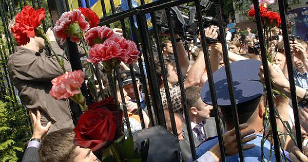 Участники акции протеста заверили, что в случае, если в двухмесячный срок дело не будет расследовано, они будут требовать отставки Генерального прокурора. @ УНІАН