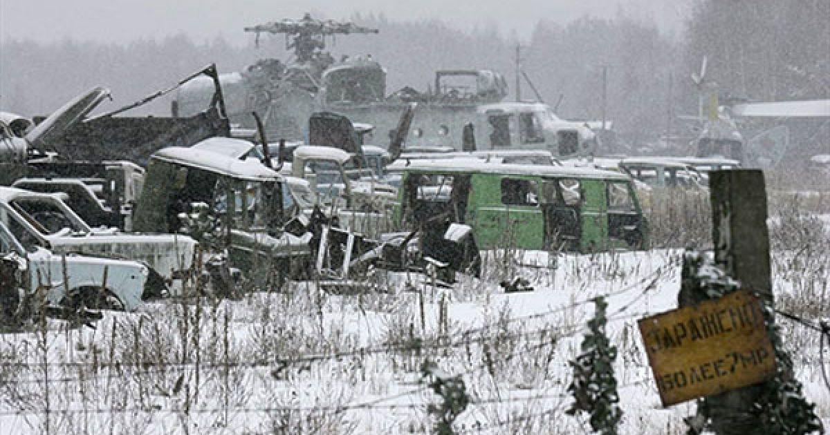 У 1986 році все населення чорнобильської зони було евакуйоване: 27 квітня - місто Прип'ять, 2 і 3 травня - 10-км зона, 4-7 травня - 30-км зона. @ AFP