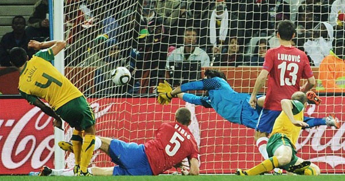 Тім Кахілл забив гол у ворота Сербії на 69-й хвилині @ Getty Images/Fotobank