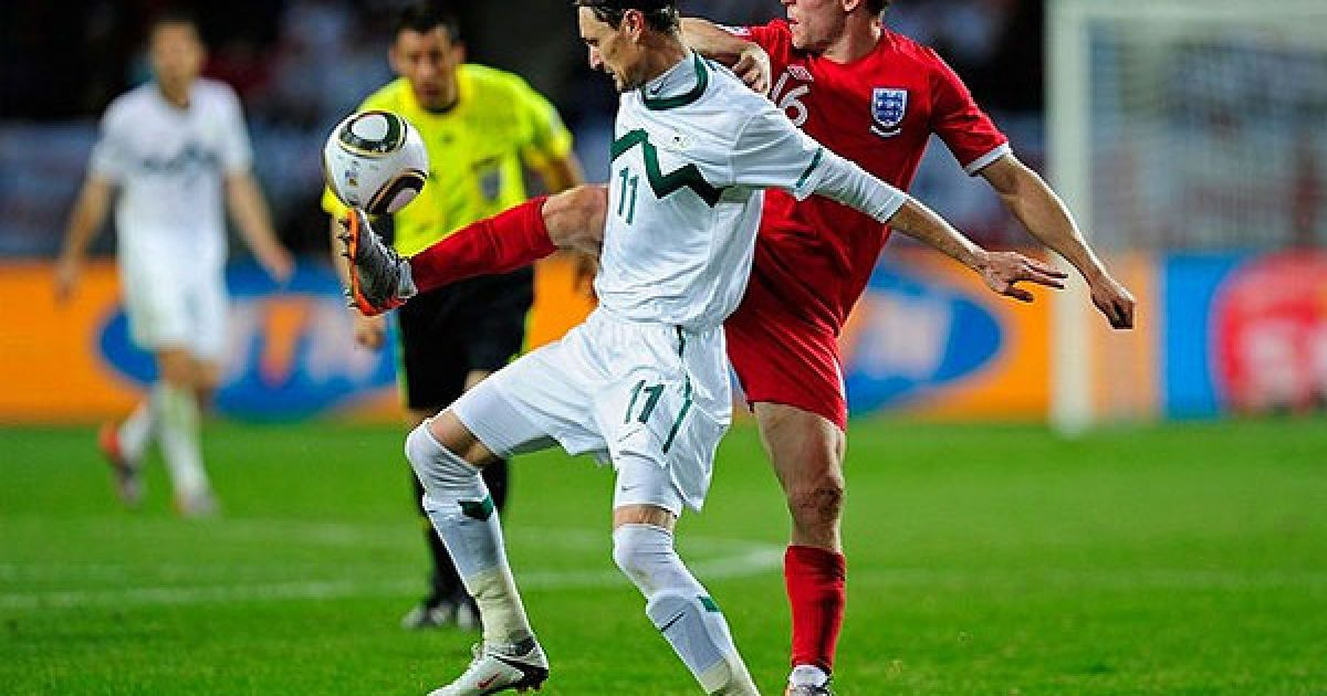 Збірна Англії перемогла команду Словенії у третьому турі Чемпіонату світу з рахунком 1:0 і вийшла у 1/8 фіналу з другого місця. @ AFP