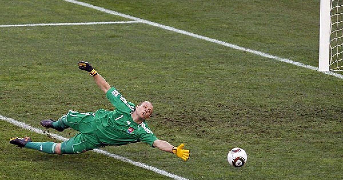 Ян Муха не зміг зупинити м'яч @ AFP