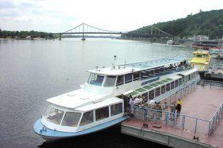 В Киеве начал сезон речной трамвай