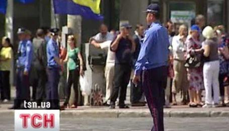 Акции протеста под Украинским домом